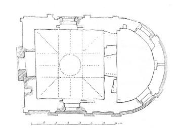 План храма святого Трифона в Напрудном