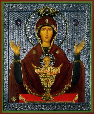 Чудотворная икона Неупиваемая Чаша - Высоцкий монастырь