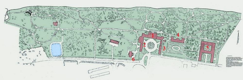 План усадьбы Ивановское