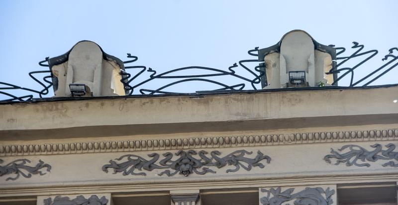 Гостиница «Альпийская роза» годах, «Альпийская, роза», части, здание, ресторан, проекту, Гостиница, стиле, месте, цветов, здании, модерн, архитектора, Остроградского, 1901—1902, владение, Пушечная, принадлежало, Савой