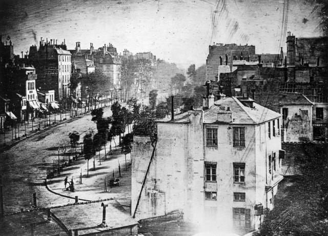 Cамое старое фото Парижа и первая в истории фотография человека