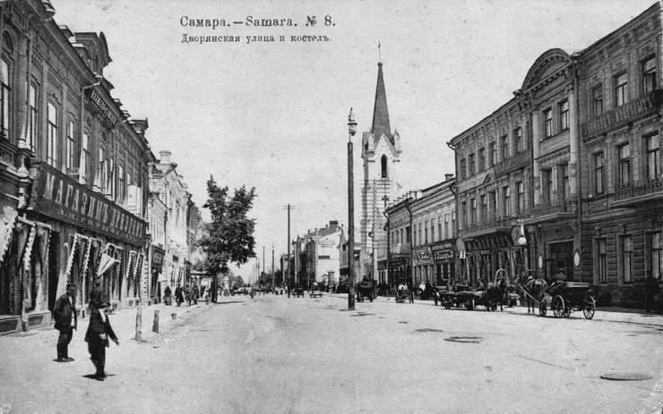 Заасфальтированная улица в самаре