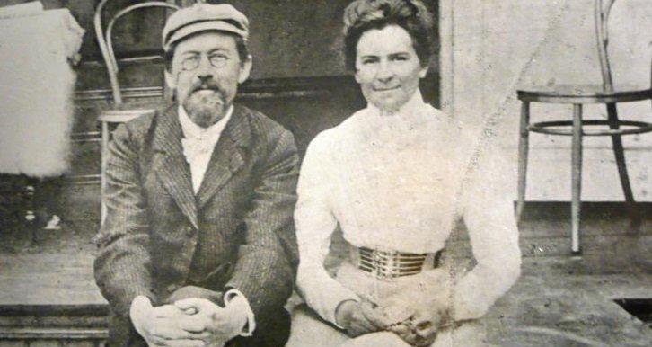Чехов с женою