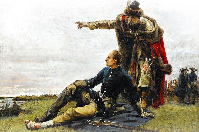 """Густав Садерстрём """"Карл XII и Мазепа после Полтавской битвы"""