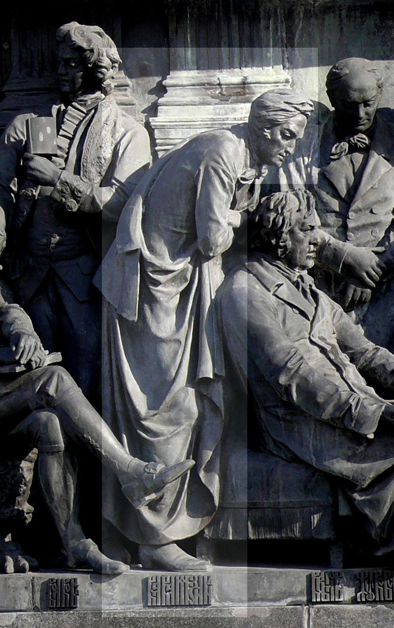 Н.М. Карамзин на памятнике 1000-летия России