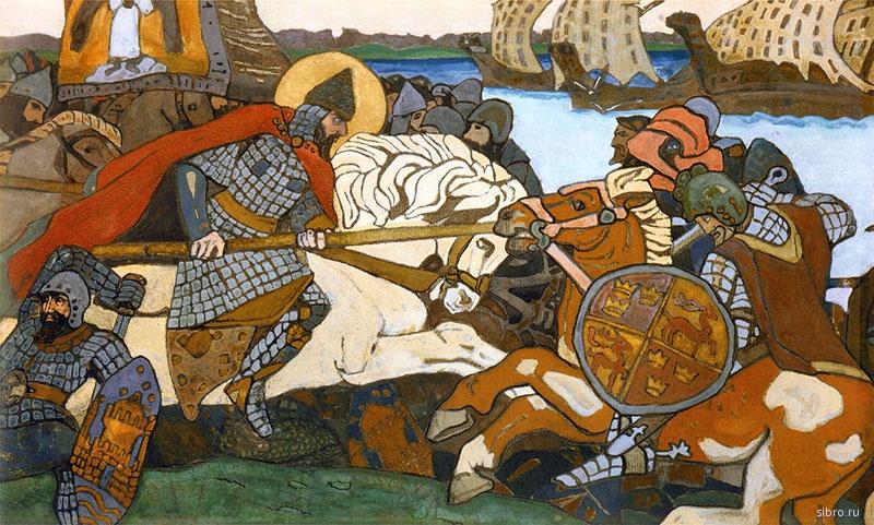 Невская битва глазами Рериха