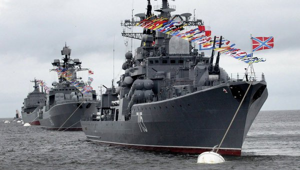 Корабли Тихоокеанского флота на параде во Владивостоке