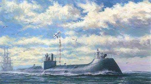 Подводная лодка на морском рейде