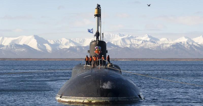 Подводная субмарина ВМФ России