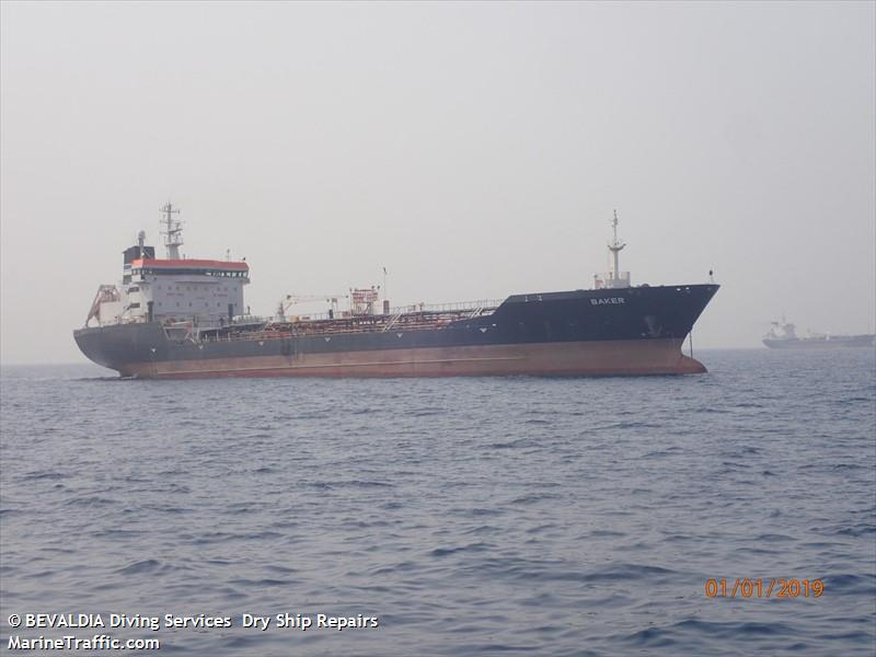 M/T WESLEY ( EX-BAKER ,EX-FURE SUN) AT LOME ANCHORAGE ,GULF OF GUINEA /MARINE TRAFFIC.COM