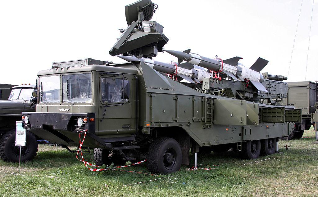 Пусковая установка комплекса Печора-2М на шасси МЗКТ-8021