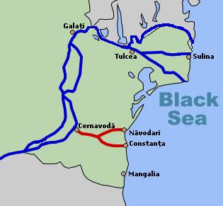 речной канал и водная транспортная система румынской части Нижнего Дуная