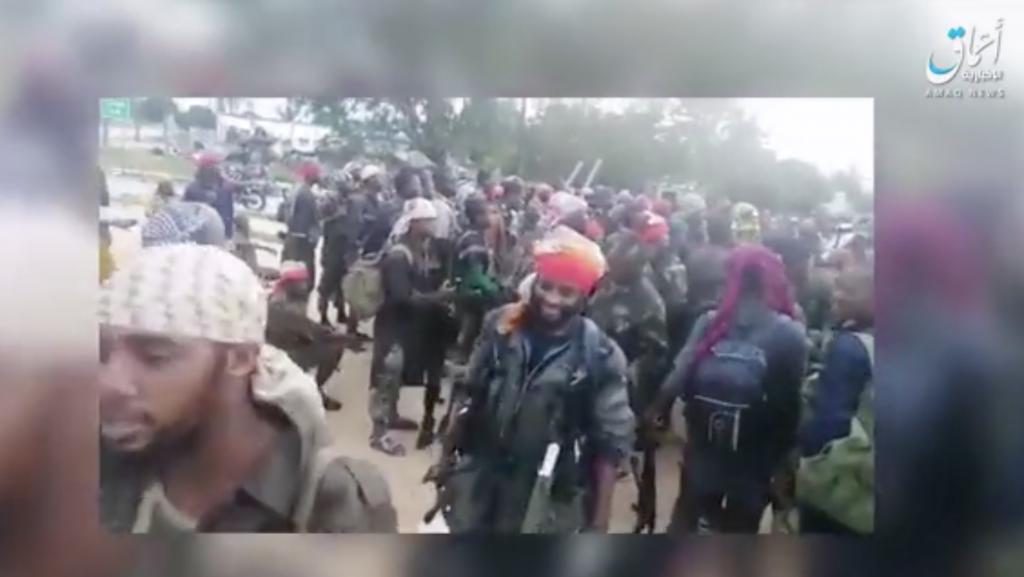 боевики ИГ-ВЦА в городе Палма 24 Марта 2021 г.