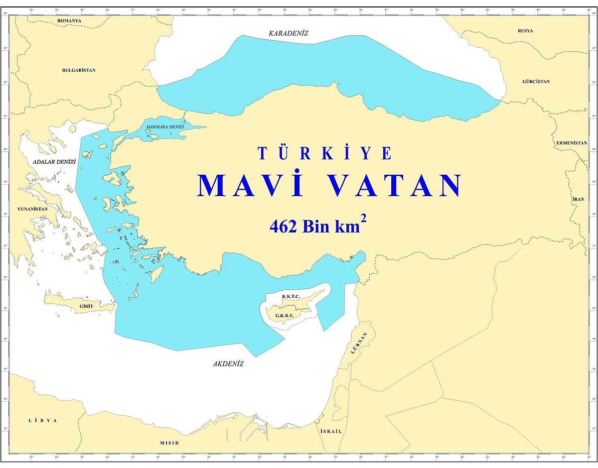 """Проект """"Синяя Родина""""-MAVI VATAN. MAVI VATAN-этот проект имеет первостепенное значение для нынешней военно-морской и экономической доктрины Турции"""