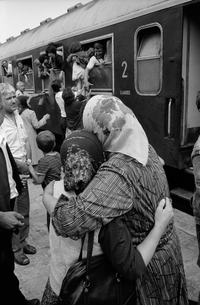 Поезд с болгарскими турками, отправляющийся в Эдирне