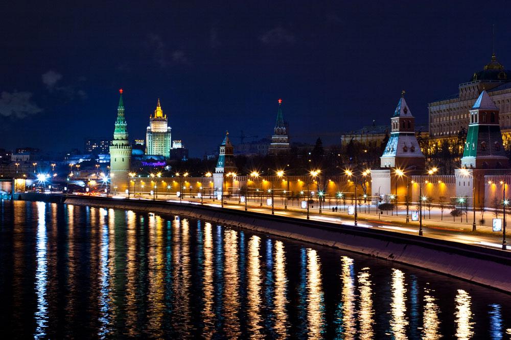 Ночная Москва, Кремль ночью
