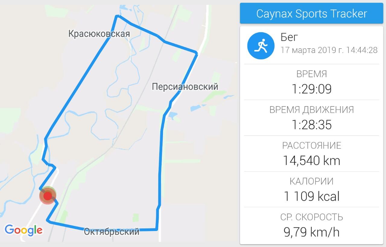 Бег в Новочеркасске: 14,5 км через Красюковку, Персиановку и Октябрьский