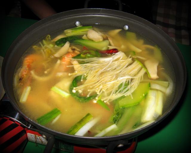корейский суп с морепродуктами