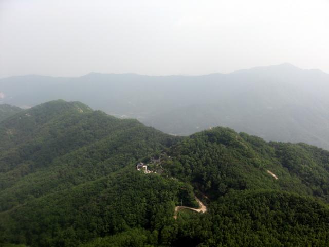 Пхальгонсан. Вид на восток