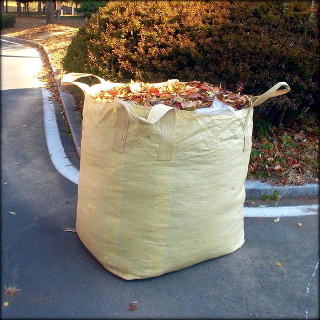 мешок с листьями