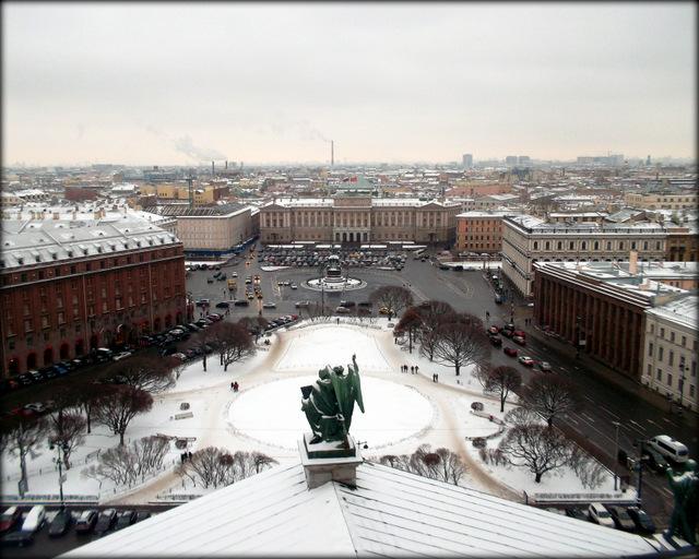 Вид на Исаакиевскую площадь и Мариинский дворец