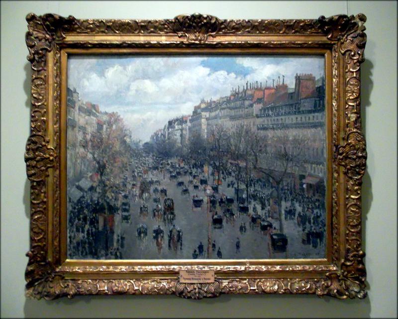 Камило Писарро.  Бульвар Монмартр в Париже