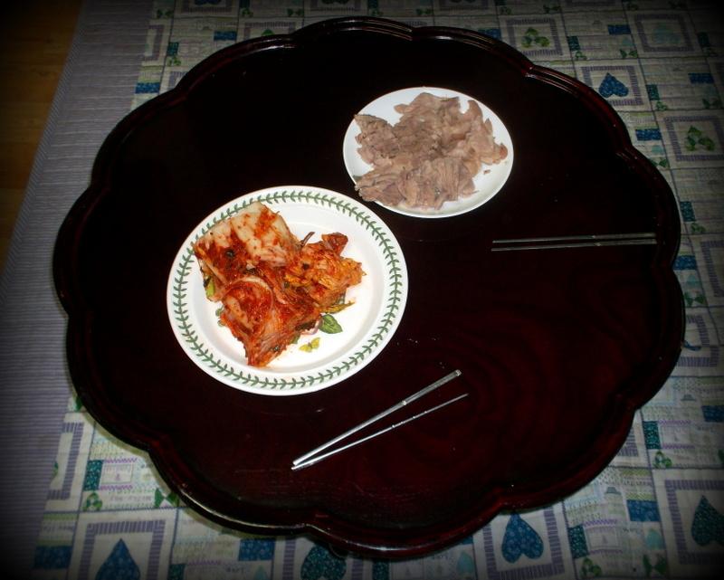 Кимчи и свинина