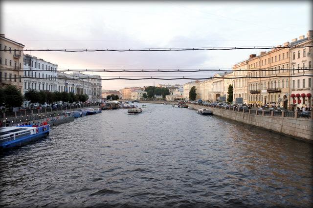 Вид на Фонтанку с Аничкова моста