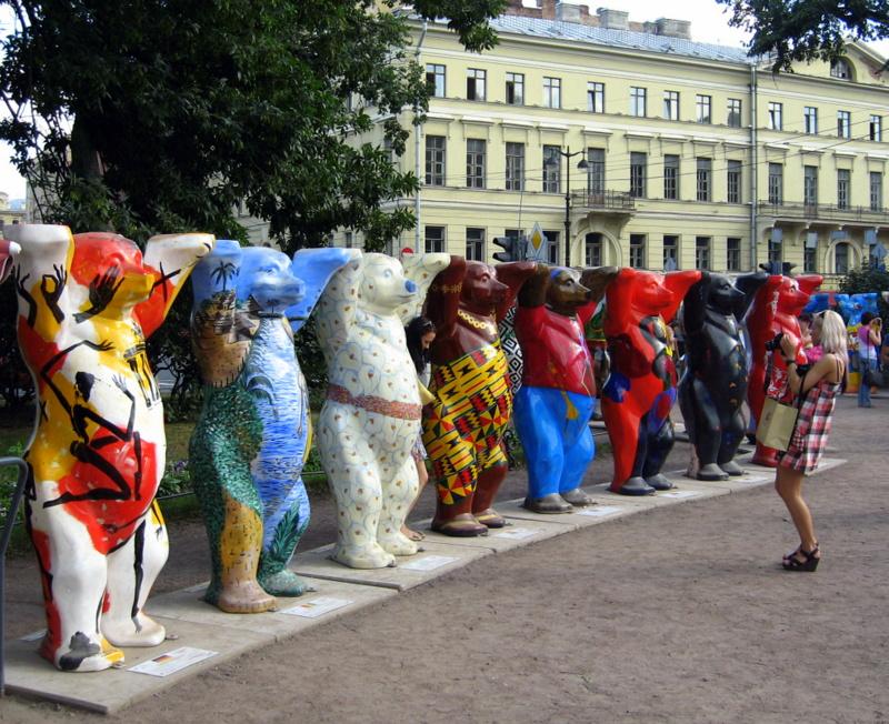 Медведи в Александровском саду