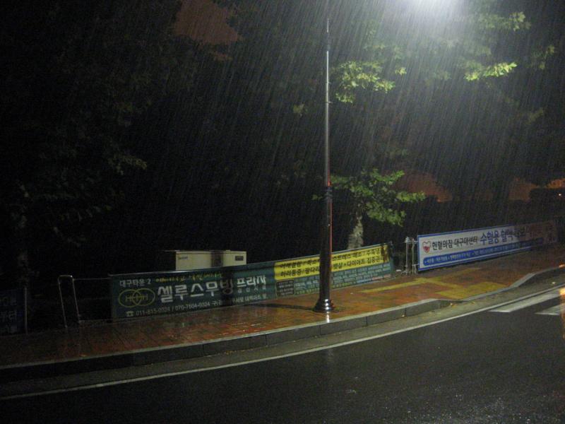 Кампус. Дождь