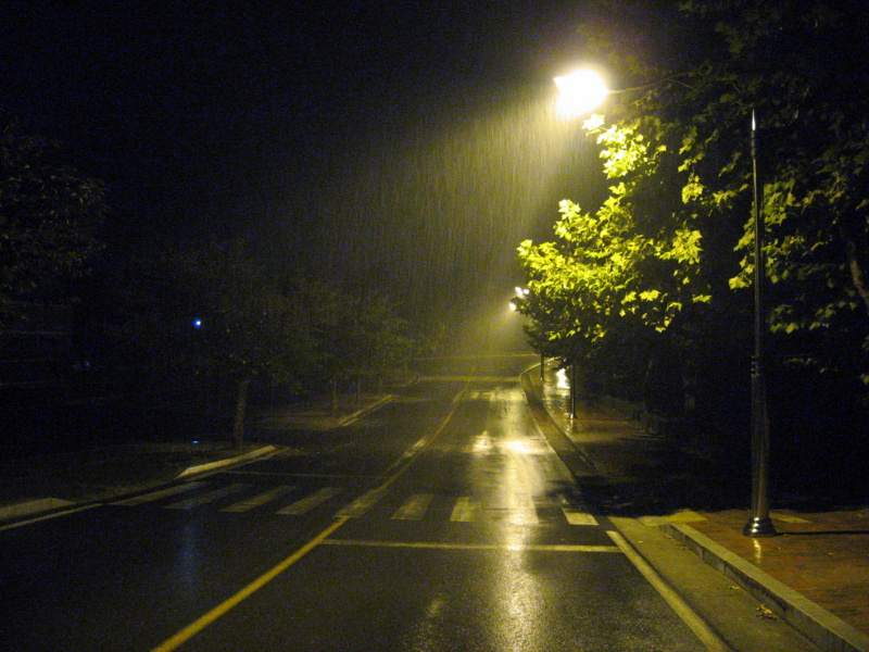 Кампус. Ночь