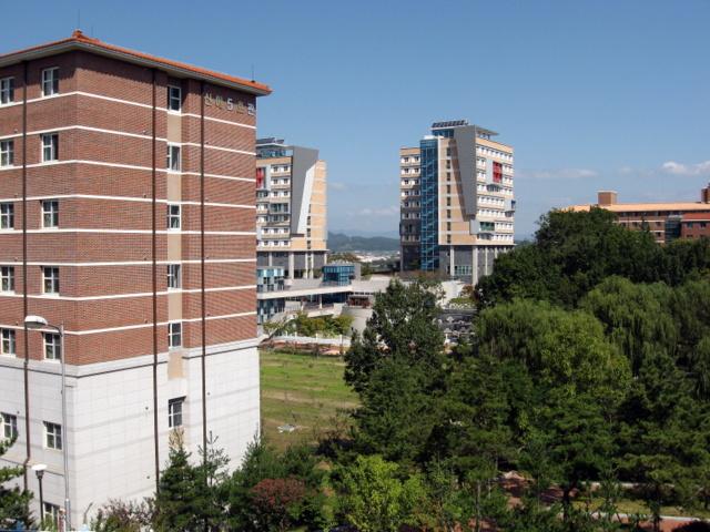 Университет Тэгу. Вид на новые общежития