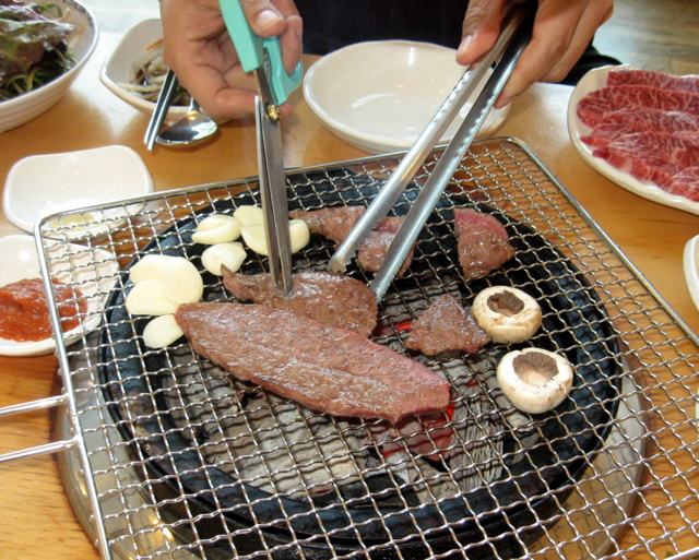приготовление говядины на углях