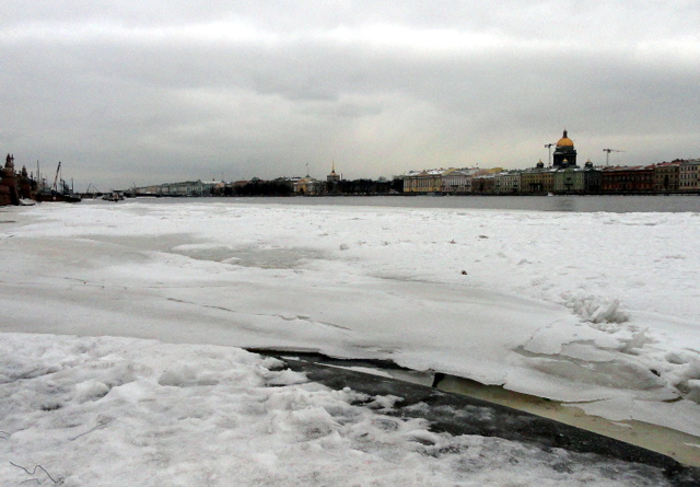 Зимняя панорама Невы