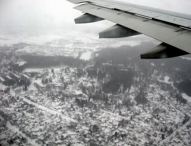 Подлетая к Петербургу