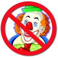Нет клоунам