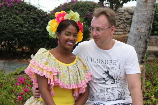 Доминиканская девушка и белый господин