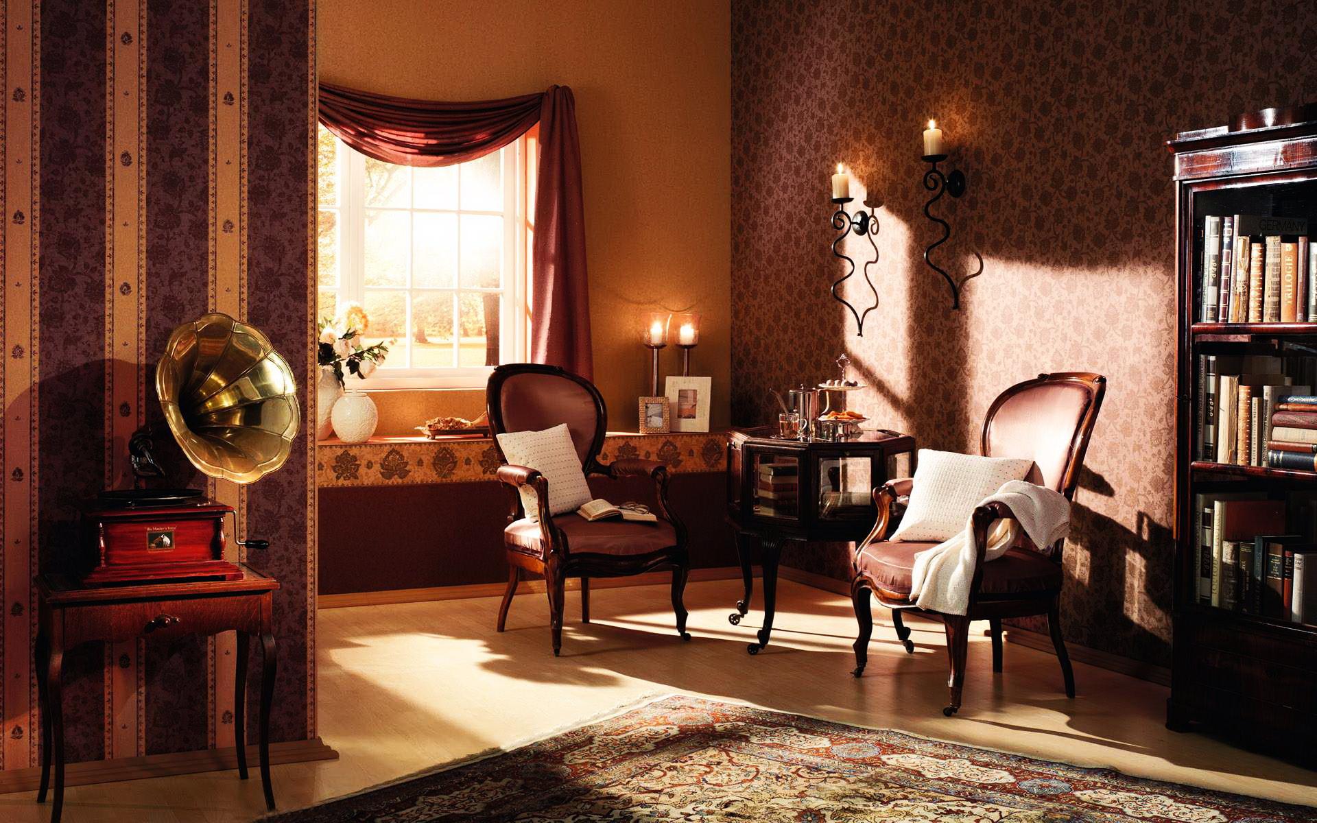 Фото комната под старину