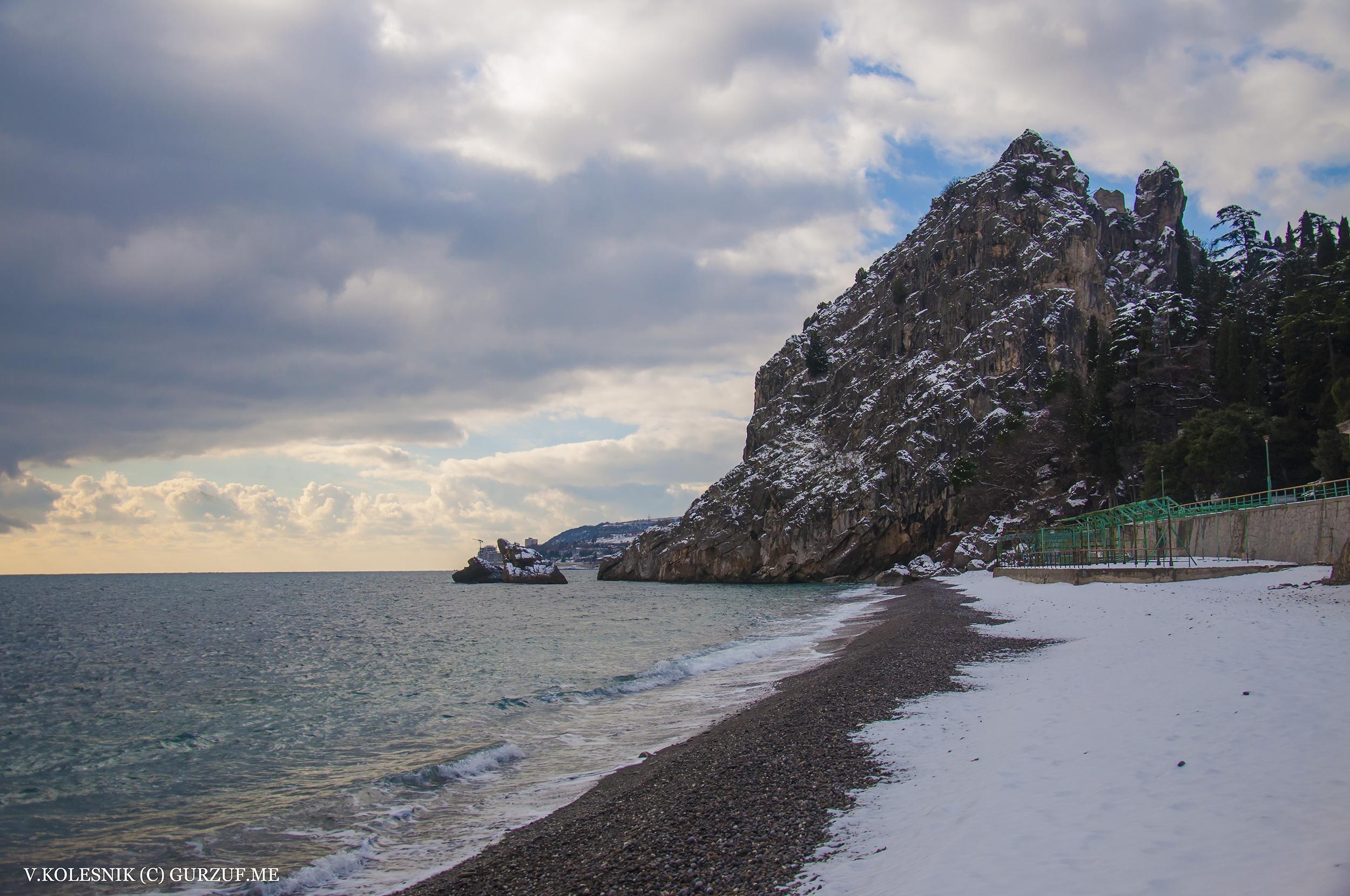 Крым, фото, зима, Гурзуф