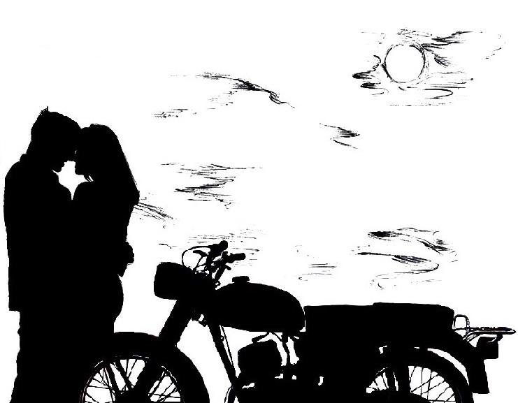 196 Пара и мотоцикл