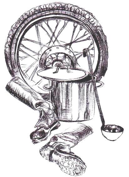 211 Колесо кастрюля сапоги