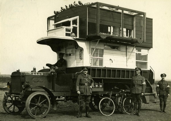 1999-20005 LGOC B-type bus (B2132) converted into  a pigeon loft (for carrier pigeons)  during the First World War  (3)