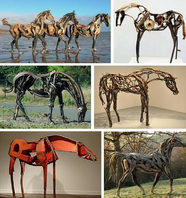 лошади из всего