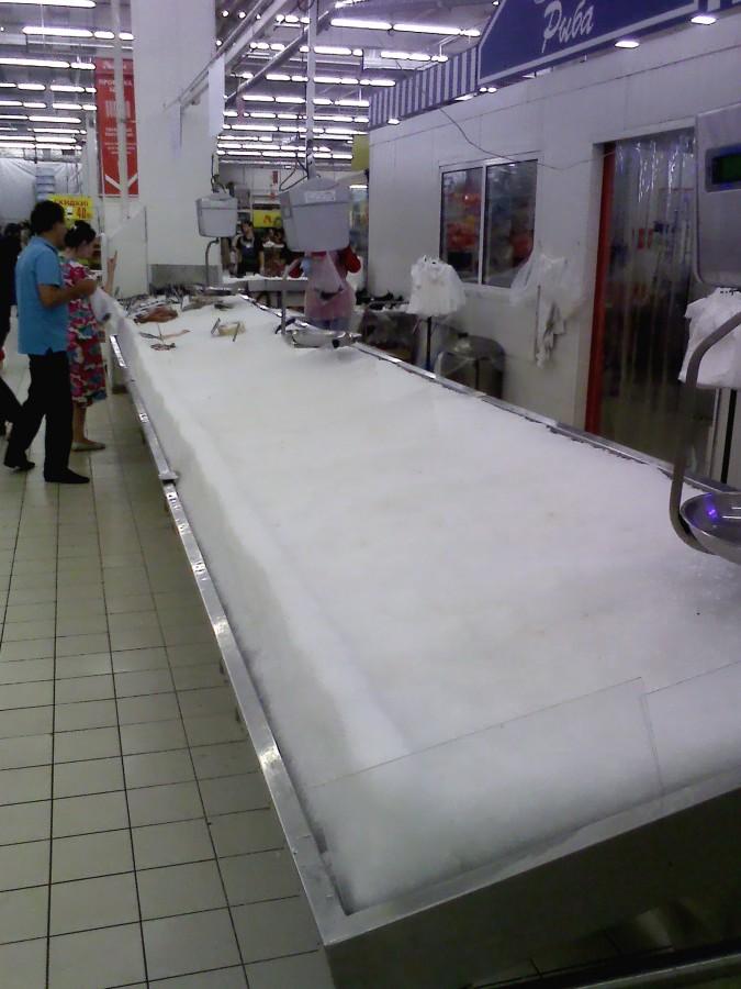 рыбный прилавок в Ашане - санкции