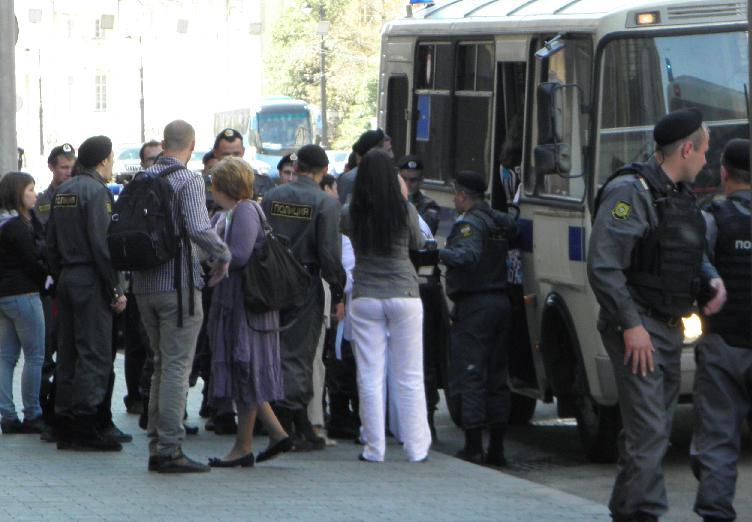 Пикет напротив ГД - задержания
