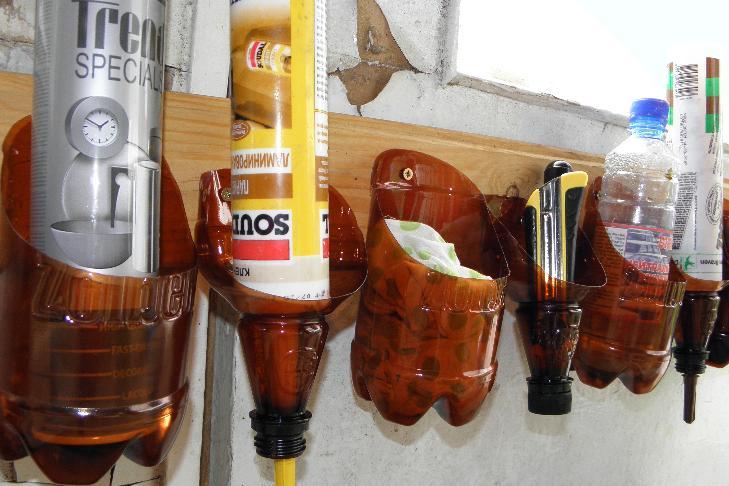 Органайзер своими руками из пластиковых бутылок