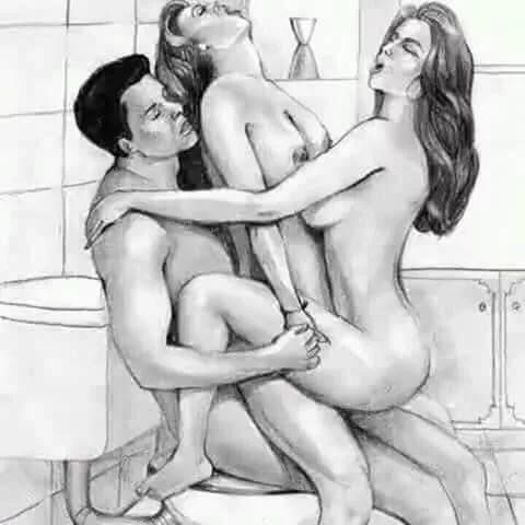 Групповой секс рисунки