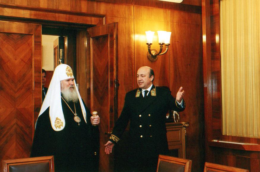 20030306-Святейший Патриарх Алексий посетил Министерство иностранных дел России-pic4
