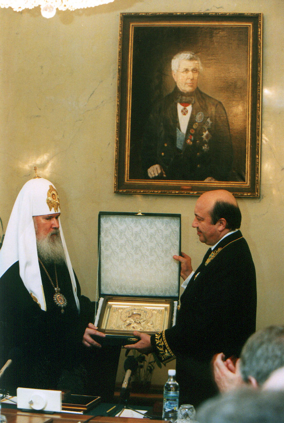 20030306-Святейший Патриарх Алексий посетил Министерство иностранных дел России-pic5