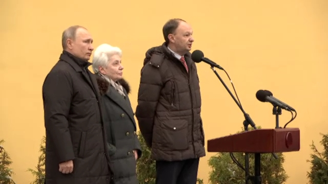 01-ВМоскве открыт памятник Александру Солженицыну - Президент России